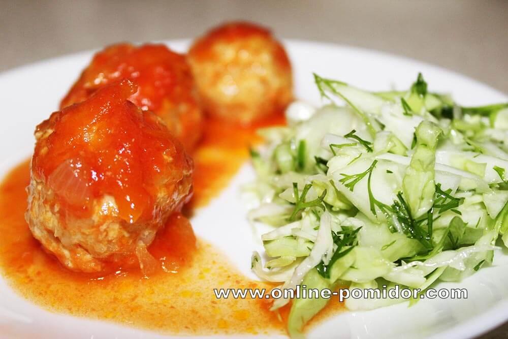 Индюшиные тефтели в томатном соусе